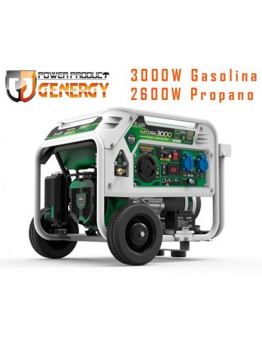 GENERADOR GASOLINA - PROPANO NATURA 3000 GENERGY