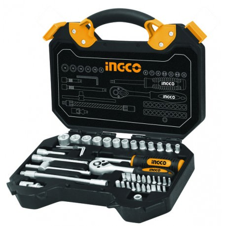 Caja herramientas 45 piezas INGCO