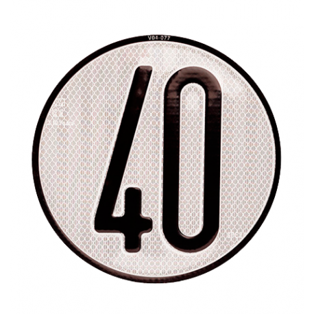 Placa limite velocidad 40 km/h